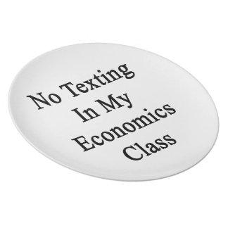 Ningún Texting en mi clase de la economía