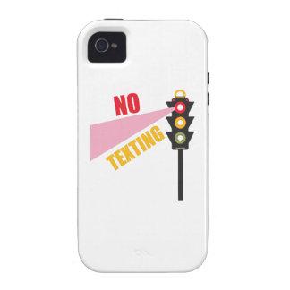 Ningún Texting iPhone 4/4S Carcasas