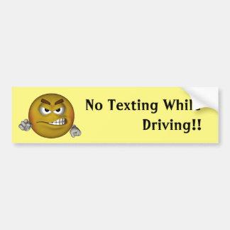 Ningún Texting mientras que conduce Pegatina Para Auto