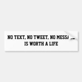 Ningún texto pegatina para auto
