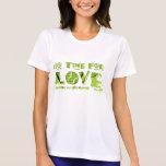Ningún tiempo para la camiseta del tenis del amor
