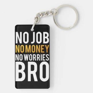 Ningún trabajo, ningún dinero, ningunas preocupaci llaveros