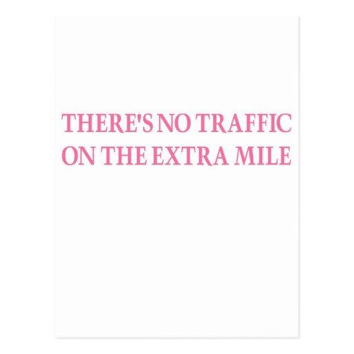 Ningún tráfico (guerrero rosado) tarjeta postal