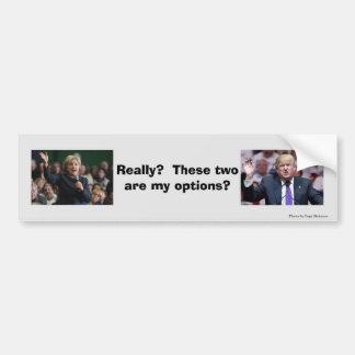 Ningún triunfo ninguna Hillary ningunas opciones Pegatina Para Auto