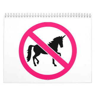 Ningún unicornio calendarios de pared