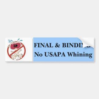 Ningún USAPA #2 de gimoteo Pegatina De Parachoque