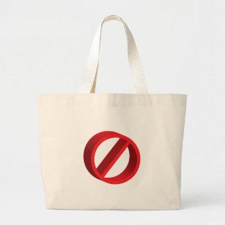 Ningún (usted completa el espacio en blanco) bolsa tela grande