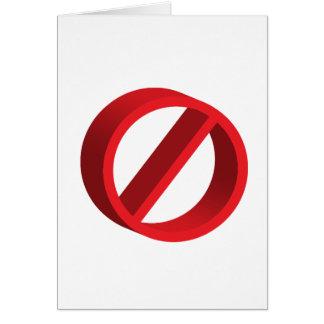 Ningún (usted completa el espacio en blanco) tarjeta de felicitación