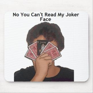 Ningún usted no puede leer mi cara del comodín alfombrilla de raton