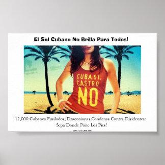 ¡Ningún Viajes una Cuba! Póster