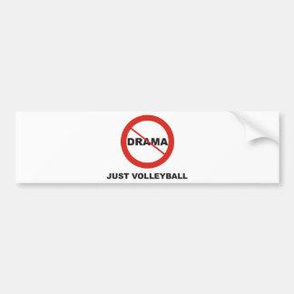 Ningún voleibol del drama apenas etiqueta de parachoque