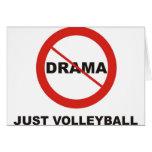 Ningún voleibol del drama apenas felicitacion