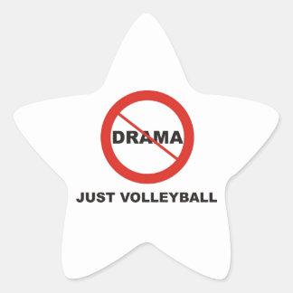 Ningún voleibol del drama apenas pegatina en forma de estrella