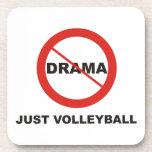 Ningún voleibol del drama apenas posavasos de bebida