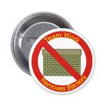 Ningún WallsTeamwork elimina barreras Pin