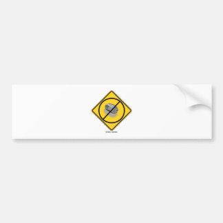 Ningún Web que practica surf (ratón amarillo de la Etiqueta De Parachoque