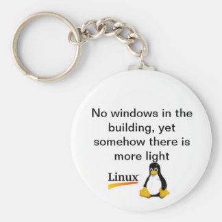 Ningún Windows Linux Llavero Redondo Tipo Pin