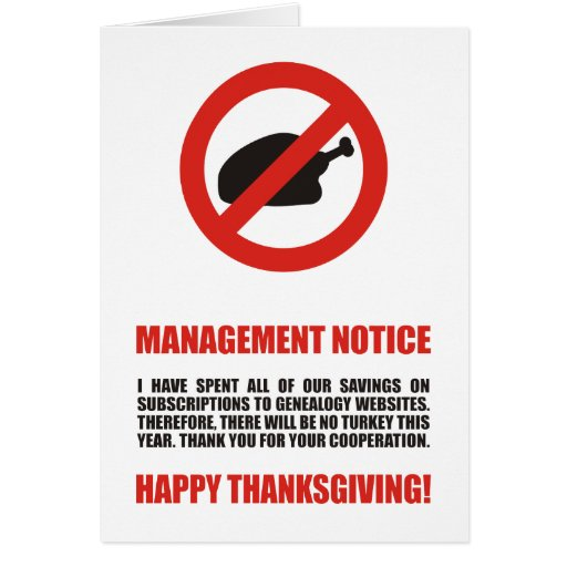 Ninguna acción de gracias Turquía Tarjetas