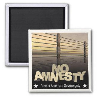 Ninguna amnistía imán cuadrado