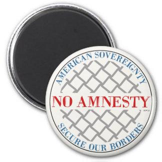 Ninguna amnistía imán redondo 5 cm