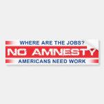 Ninguna amnistía pegatina de parachoque