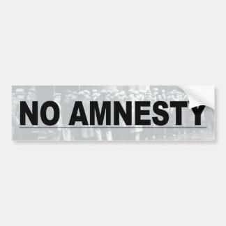 Ninguna amnistía pegatina para auto
