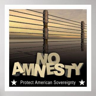 Ninguna amnistía póster