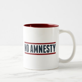 Ninguna amnistía tazas