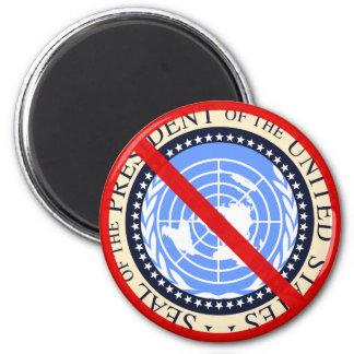 ¡Ninguna aprobación de Naciones Unidas necesaria! Imán Redondo 5 Cm