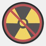 Ninguna arma nuclear pegatina redonda