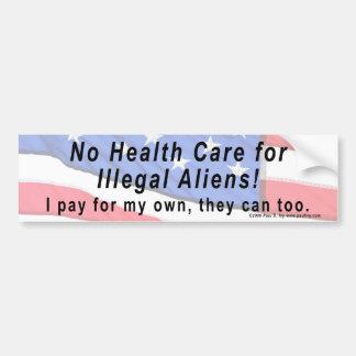 ¡Ninguna atención sanitaria para los inmigrantes i Etiqueta De Parachoque