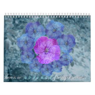 Ninguna ausencia de belleza calendarios de pared