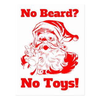 Ninguna barba ningunos juguetes postales