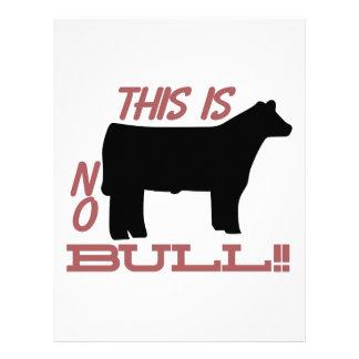 ¡Ninguna Bull! Membretes Personalizados