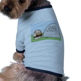 ninguna camisa calza al hombre de las cavernas de  camiseta con mangas para perro