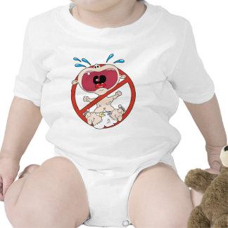 Ninguna camisa de los bebés del grito
