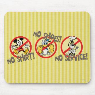 ¡Ninguna camisa ¡Ningunos zapatos ¡Ningún servic Alfombrilla De Raton