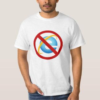 Ninguna camiseta de Internet Explorer (huelga Playera