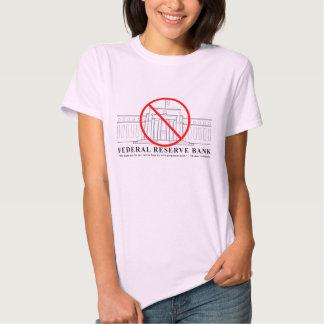 Ninguna camiseta de las señoras de Federal Reserve Polera