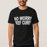 Ninguna camiseta del curry de la carne de vaca de  playeras