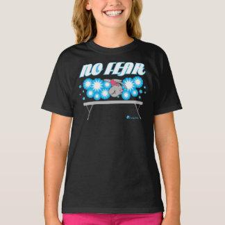 Ninguna camiseta del gato de la gimnasia del miedo