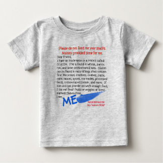 NINGUNA camiseta del gluten para los bebés