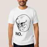 Ninguna cara enojada Rageface Meme de la rabia Camisas