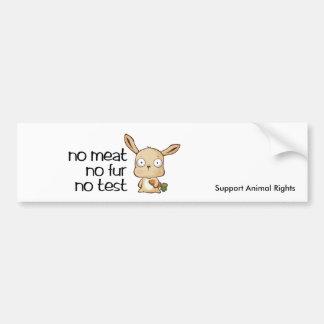 ninguna carne ningún marlo de la prueba, los derec etiqueta de parachoque