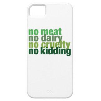 Ninguna carne, ninguna lechería, ninguna crueldad, funda para iPhone 5 barely there