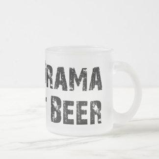 Ninguna cerveza del drama apenas tazas
