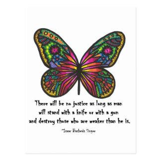 Ninguna cita de la justicia tarjeta postal