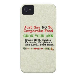 Ninguna comida corporativa iPhone 4 Case-Mate protector