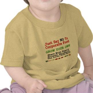 Ninguna comida corporativa camisetas