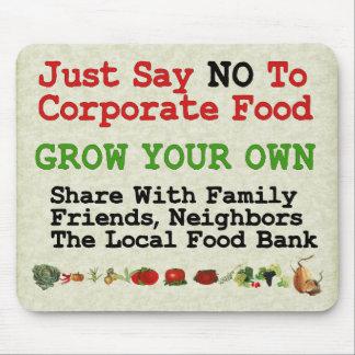 Ninguna comida corporativa alfombrillas de ratón